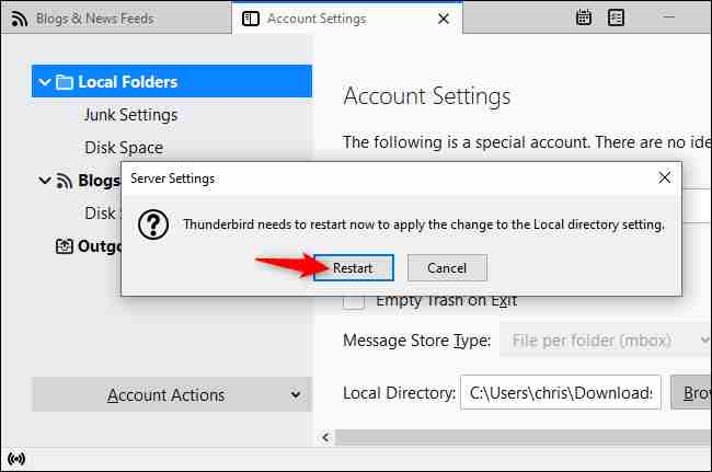 Point Thunderbird to your MBOX file