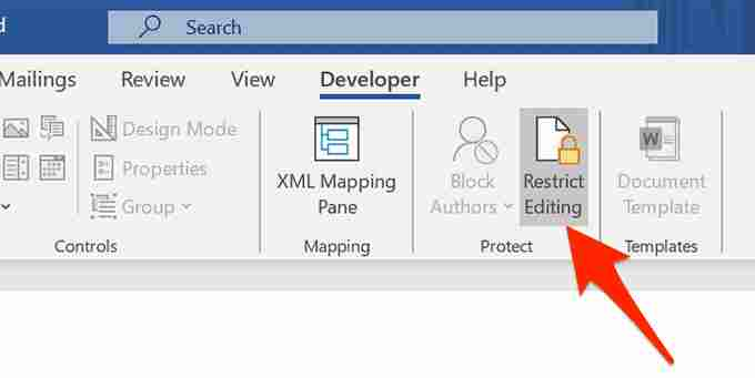Eliminating Read Only in Word By Disabling Restrict Editing