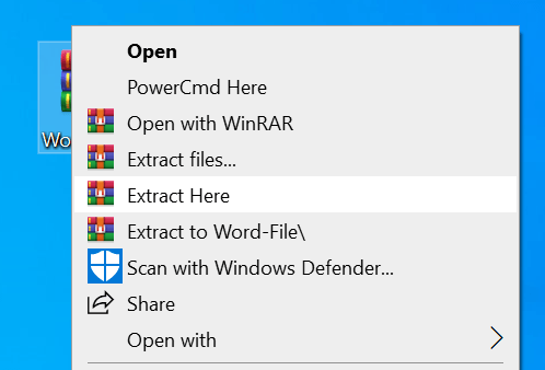Extract Document Files Before Opening in MS.Word