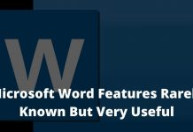 Microsoft Word Features Rarely Known But Very Useful
