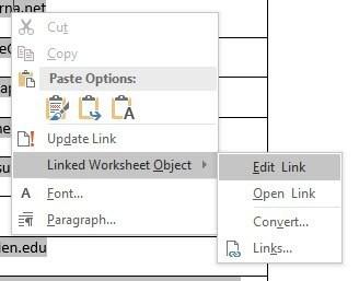 edit link in word