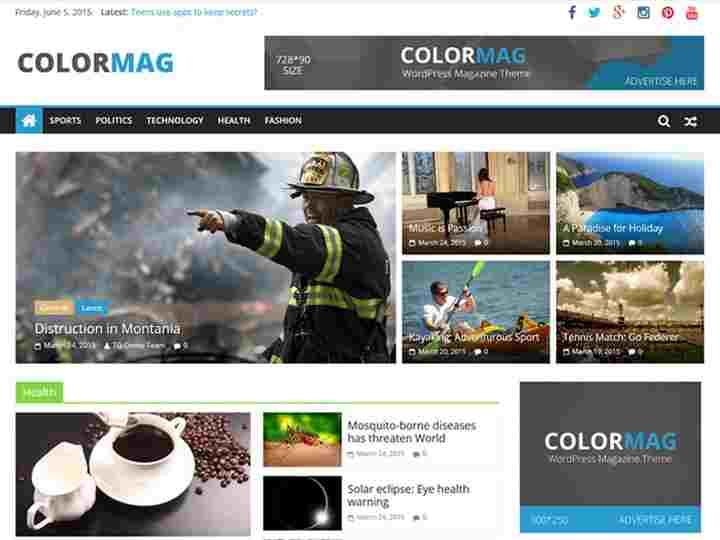 ColorMag seo wordpress theme