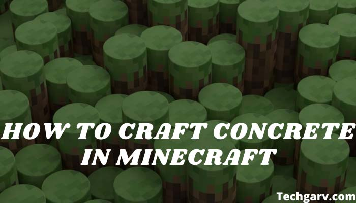How to Craft Concrete in Minecraft