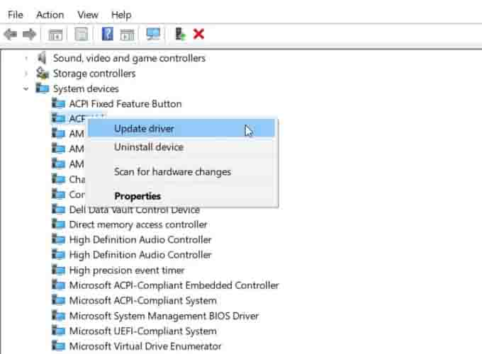 Check for Device Driver Issues