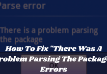 How To Fix There Was A Problem Parsing The Package Errors
