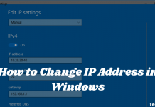 How to Change IP Address in Windows